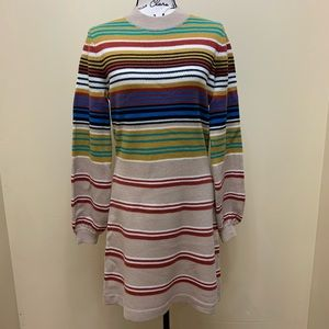 NWT Free People Striped Wool Knit Sweater Sz Large